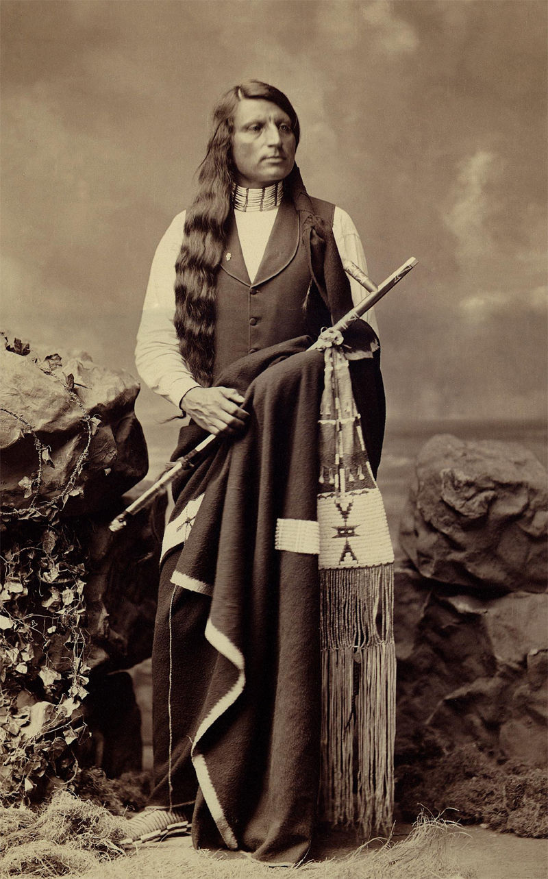 An old photograph of Red Shirt aka Ogalesha - Sioux 1880 [A].