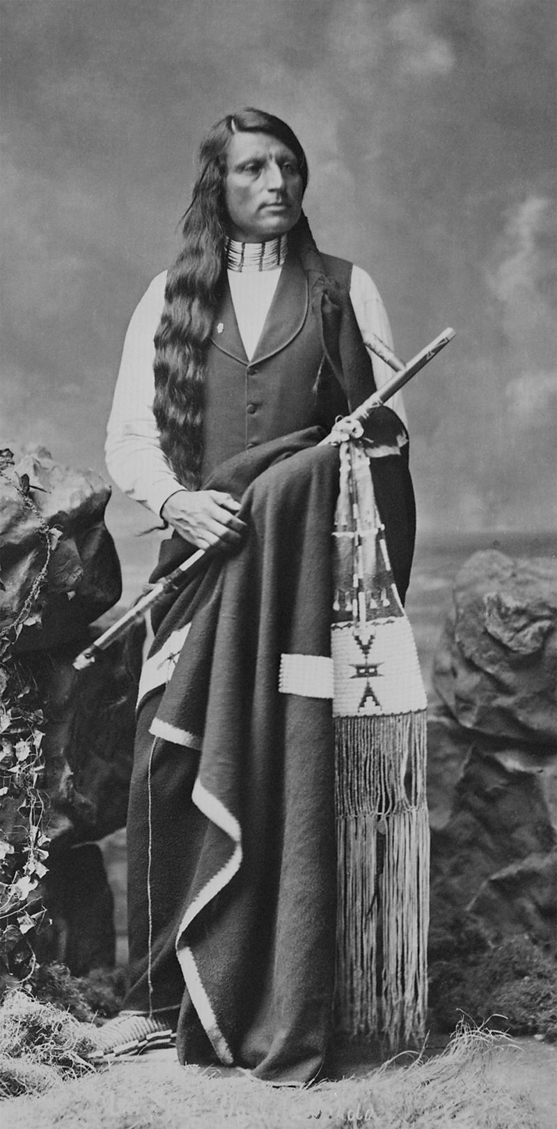 An old photograph of Red Shirt aka Ogalesha - Sioux 1880 [AA].