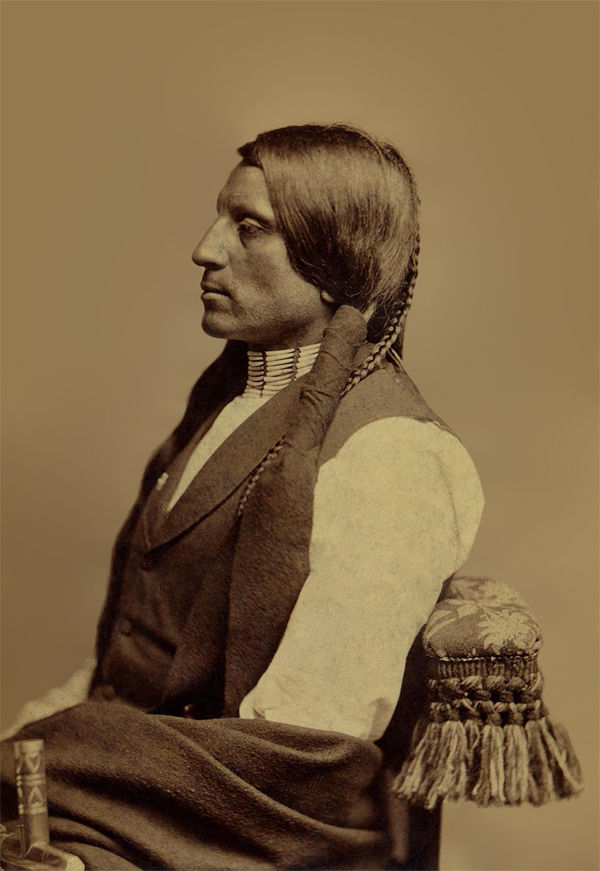 An old photograph of Red Shirt aka Ogalesha - Sioux 1880 [B].