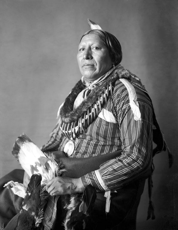 An old photograph of Roaming Chief - Pawnee 1902.