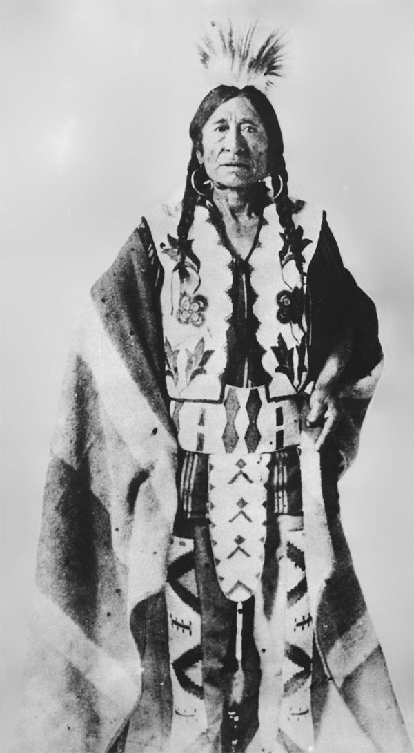 An old photograph of Rocky Boy aka Stone Child - Chippewa Chief.