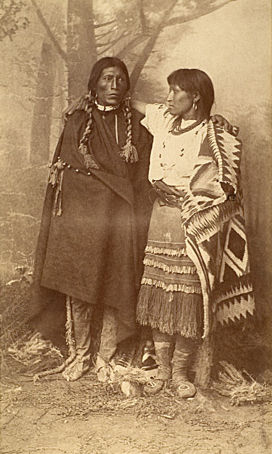 An old photograph of Romeo and Juliet - Jicarilla Apache.