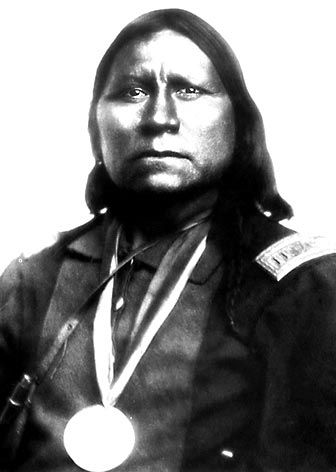 An old photograph of Satanta - Kiowa Chief.