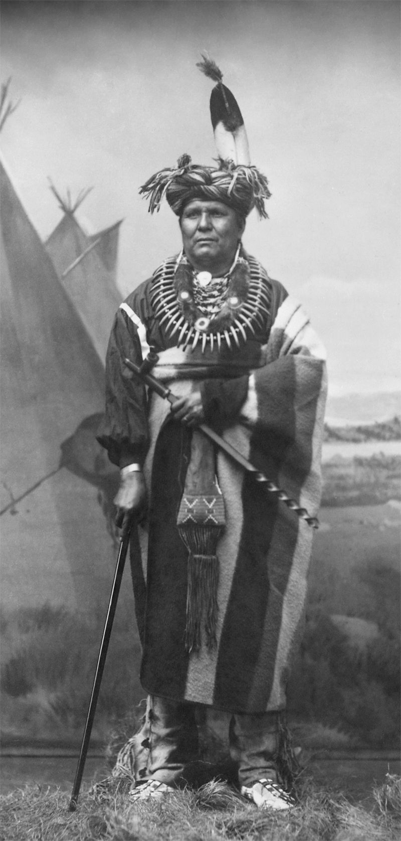 An old photograph of Sauk and Fox Chief [A].