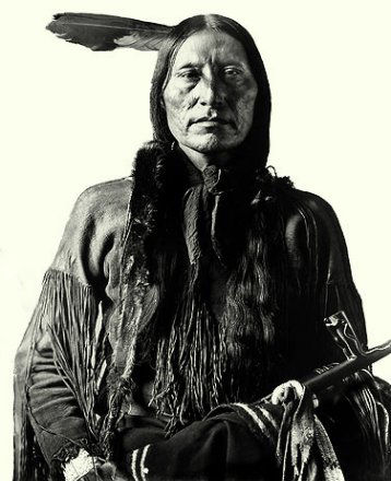 An old photograph of Scabby Bull - Arapaho.