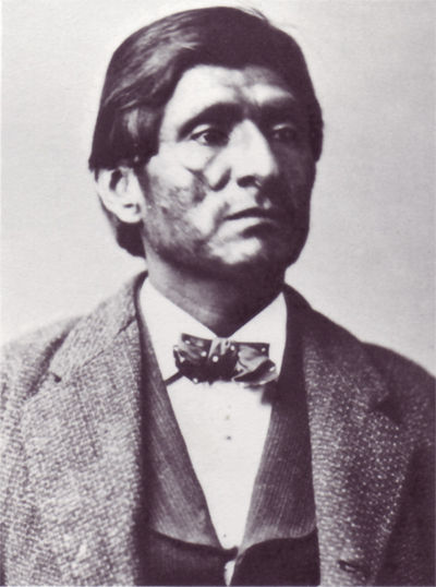 An old photograph of Scarfaced Charley - Modoc.