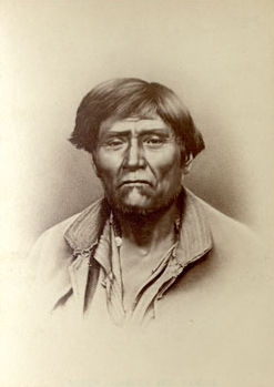 An old photograph of Schonchin - Modoc 1873.