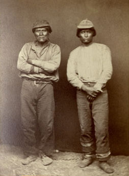 An old photograph of Schonchin and Jack - Modoc 1873.
