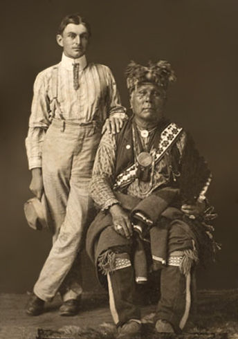 An old photograph of Second One with an Unidentified White Man.