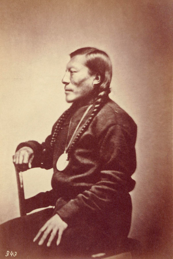 An old photograph of Shavano aka Sha-va-noh - Ute (possibly 1861).