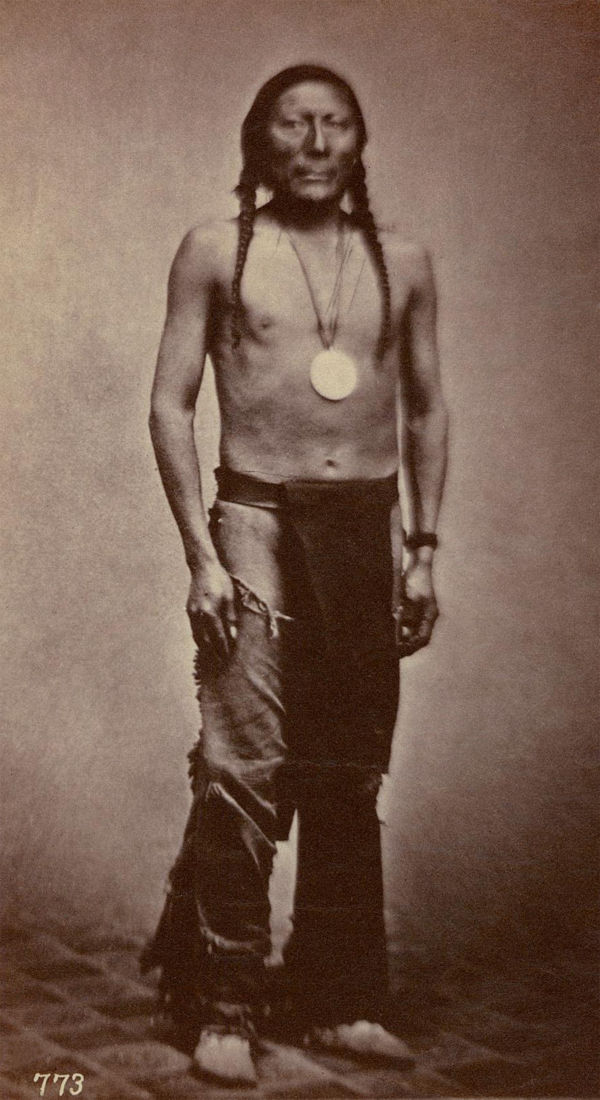 An old photograph of Shavano aka Sha-va-noh - Ute 1869.