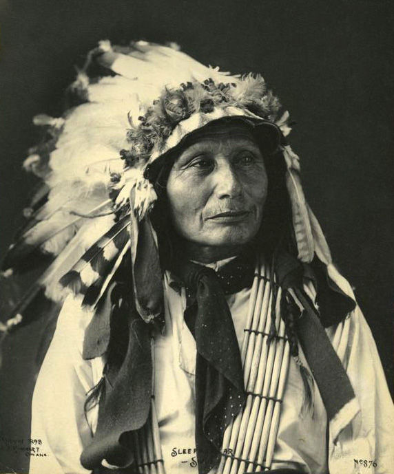An old photograph of Sleeping Bear - Sioux 1898.