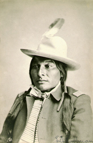 An old photograph of Spotted Elk, Head Warrior - Minneconjoux Sioux.