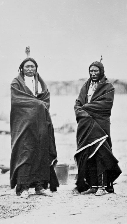 An old photograph of Spotted Tail and Fast Bear - Sicangu 1868.