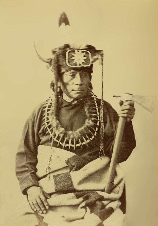 An old photograph of Stands By It aka George Arkeketah - Oto Chief 1874.