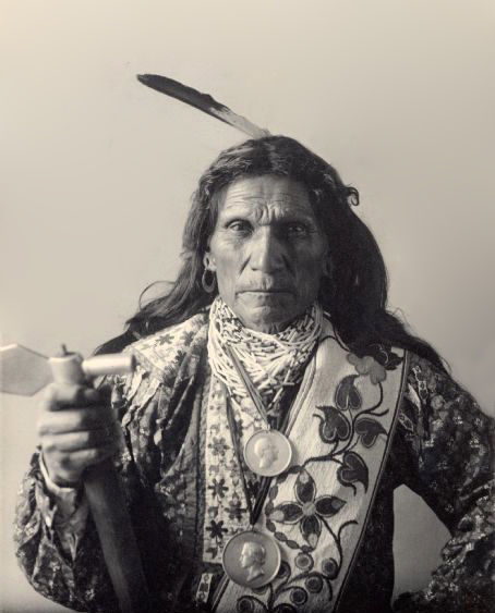 An old photograph of Stands By It aka George Arkeketah - Oto Chief.
