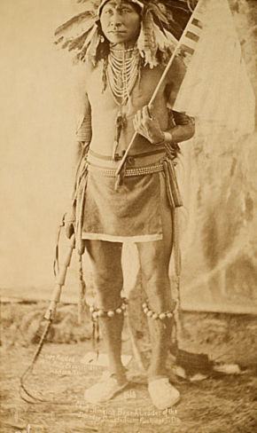 An old photograph of Stinking Bear - Sioux Chief.