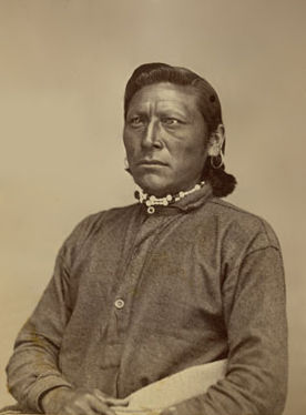 An old photograph of Sun At Noon Day aka Tabooachaget - Ute 1873.
