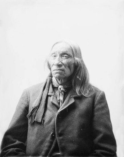 An old photograph of Swift Bear - Brule Chief.