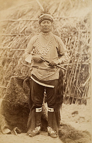 An old photograph of The Buck - Omaha Chief 1883.