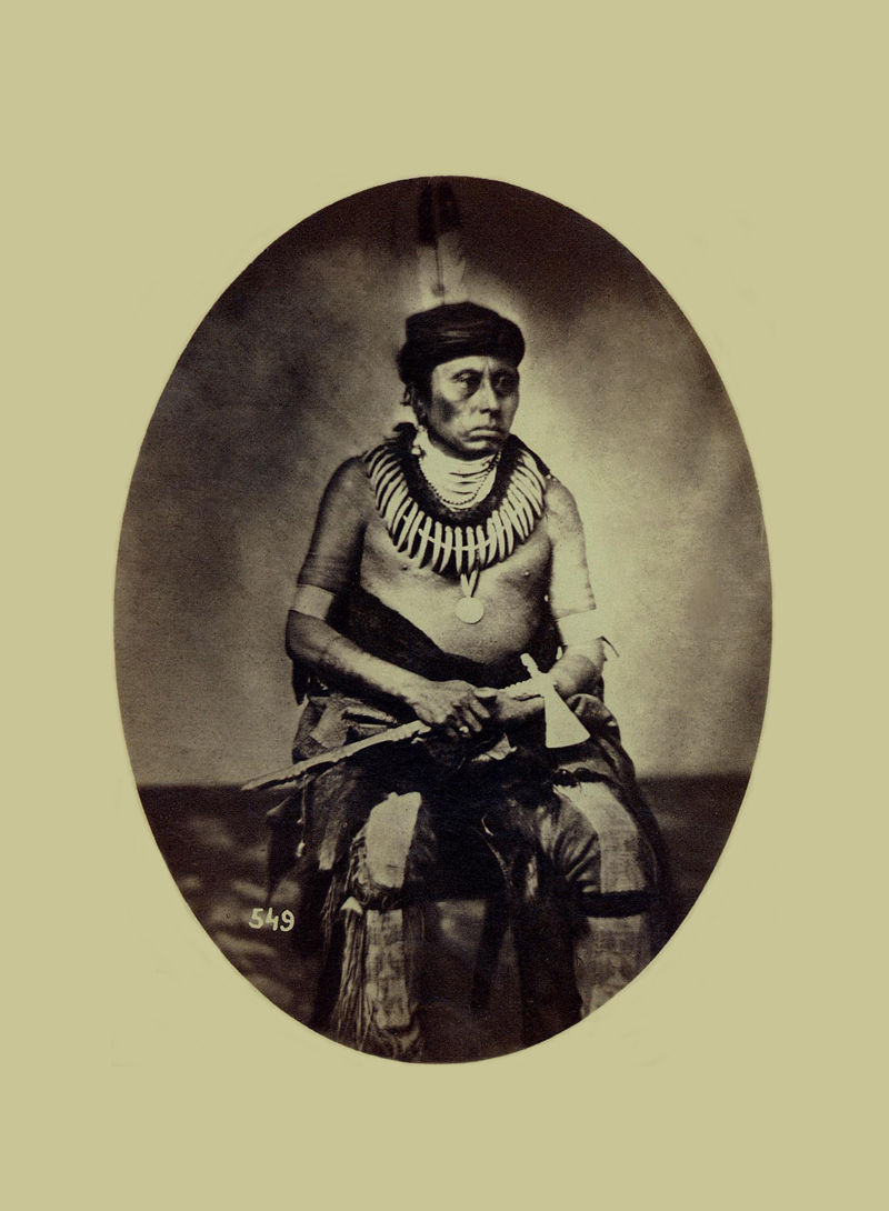 An old photograph of The Conqueror aka Ti-ri-watka-da-huk - Pawnee 1858.