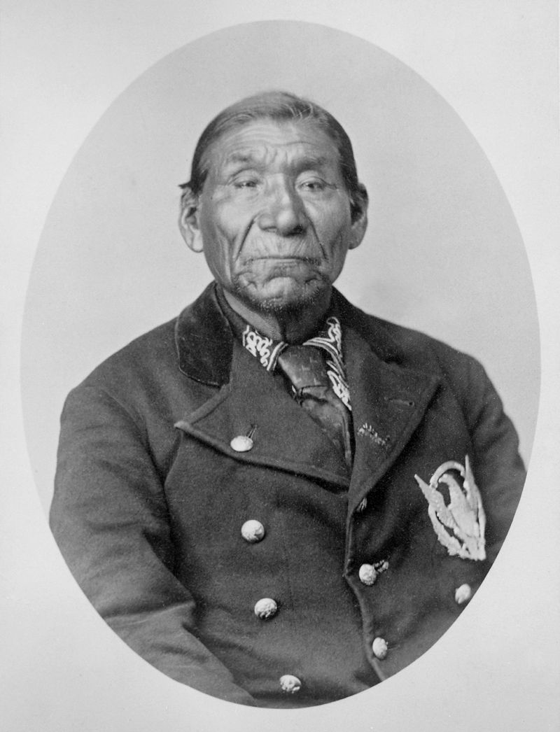 An old photograph of The Giver Of Spiritual Gifts aka The Giver aka Winnemucca aka Wobitsawahkah - Paiute Chief.