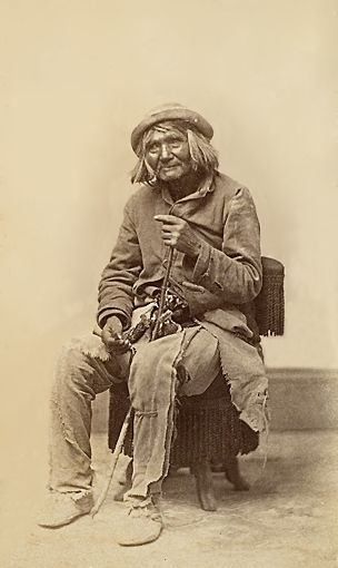 An old photograph of The Oldest Resident in Utah.