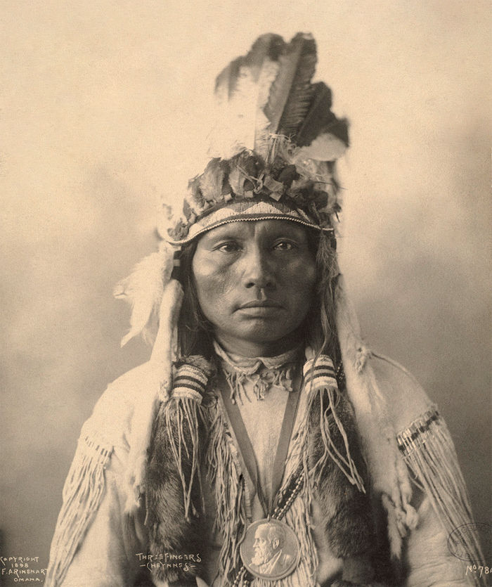 An old photograph of Three Fingers - Southern Cheyenne 1898 [A].