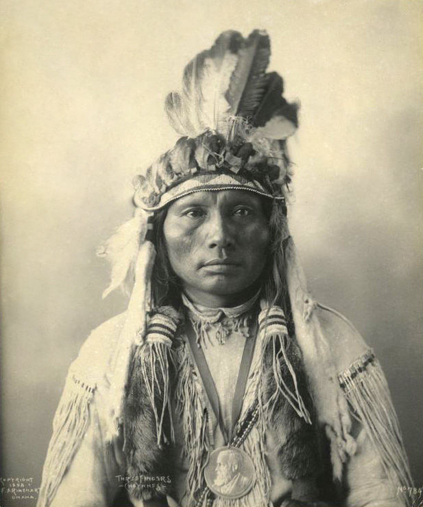 An old photograph of Three Fingers - Southern Cheyenne 1898 [AA].
