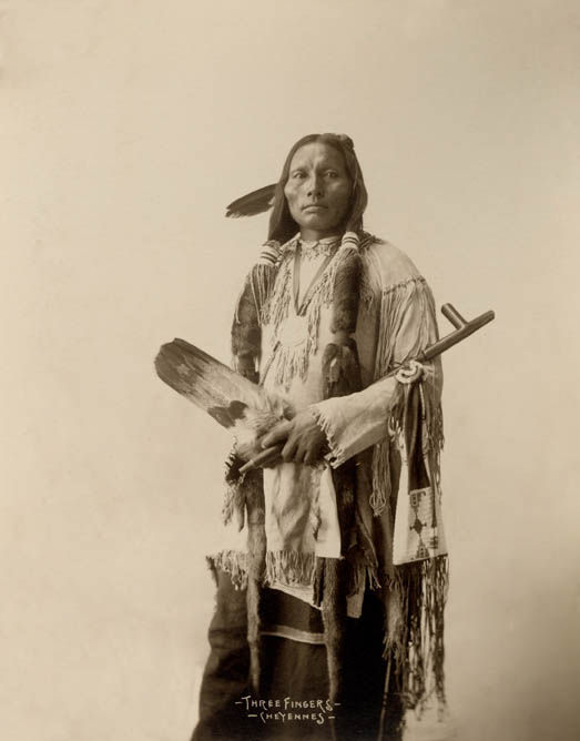 An old photograph of Three Fingers - Southern Cheyenne 1898 [B].
