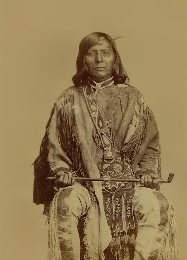 An old photograph of Timothy aka Ta-ma-son - Nez Perce 1868.