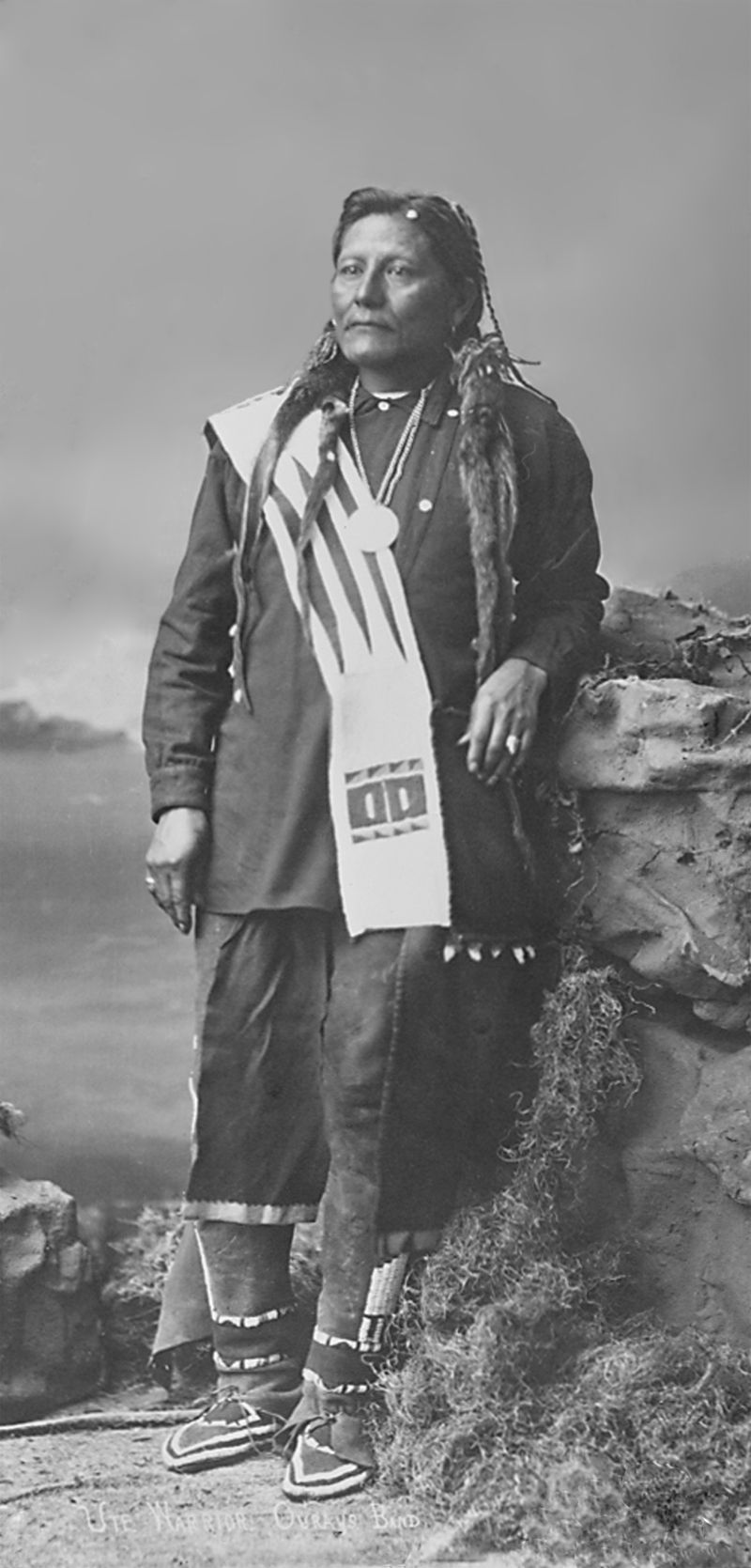 An old photograph of Tom, A Ute Warrior from Ouray's Band.