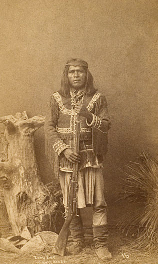 An old photograph of Tony Lee - Apache.