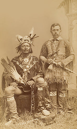 An old photograph of Two Caddo Chiefs.
