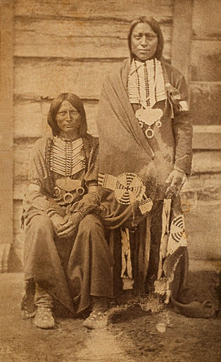 An old photograph of Two Southern Cheyenne Braves.
