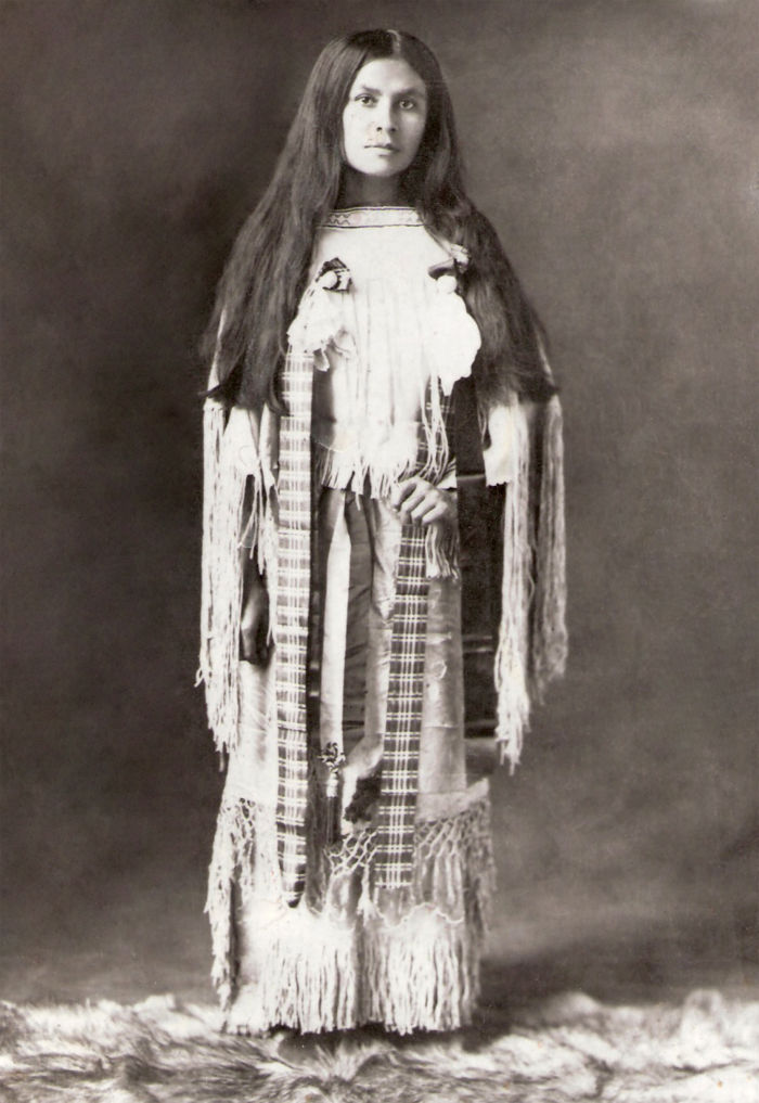 An old photograph of Wanada Parker, Daughter of War Chief, Quanah Parker.