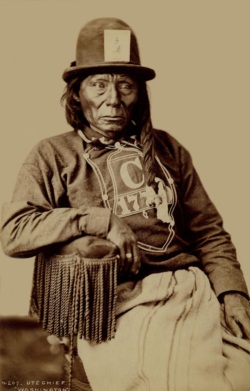 An old photograph of Washington - Ute Chief 1879-94.