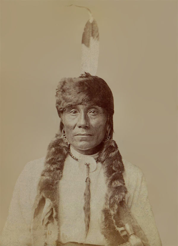 An old photograph of White Bird - Crow 1890 [B].