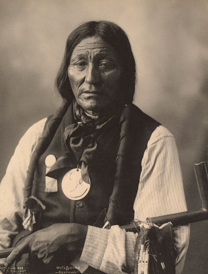 An old photograph of White Buffalo - Arapahoe 1898.