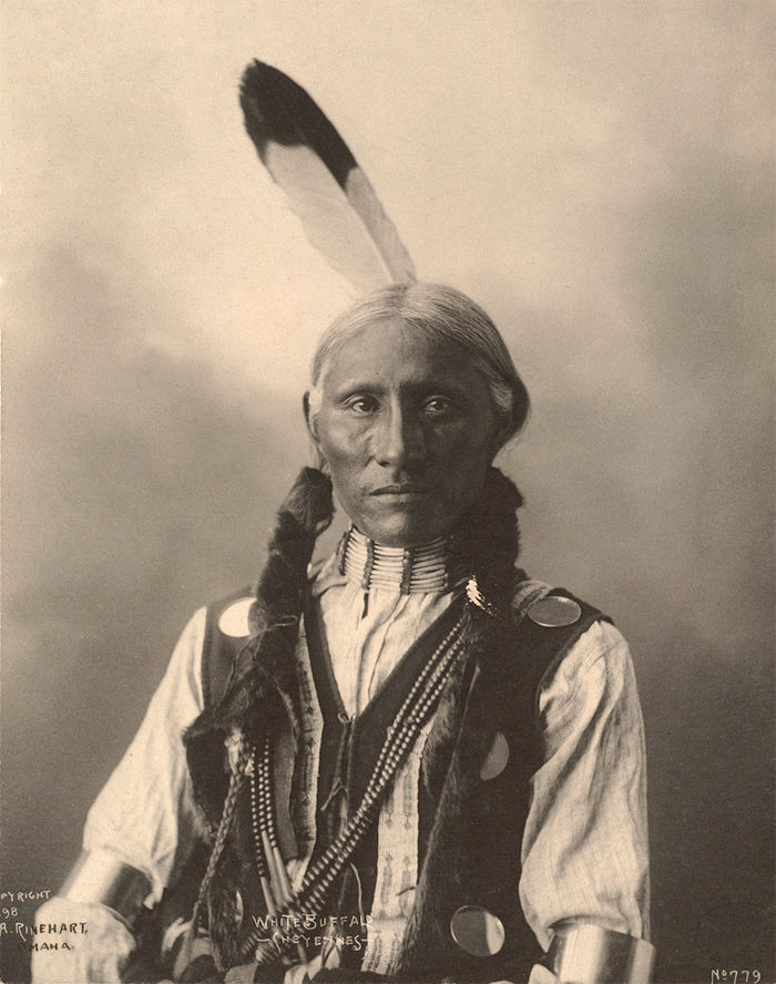 An old photograph of White Buffalo - Cheyenne 1898.