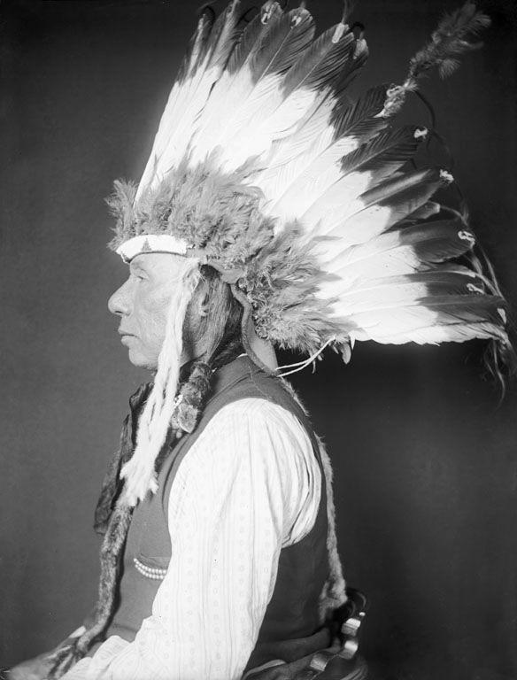 An old photograph of White Chief - Ponca 1906.