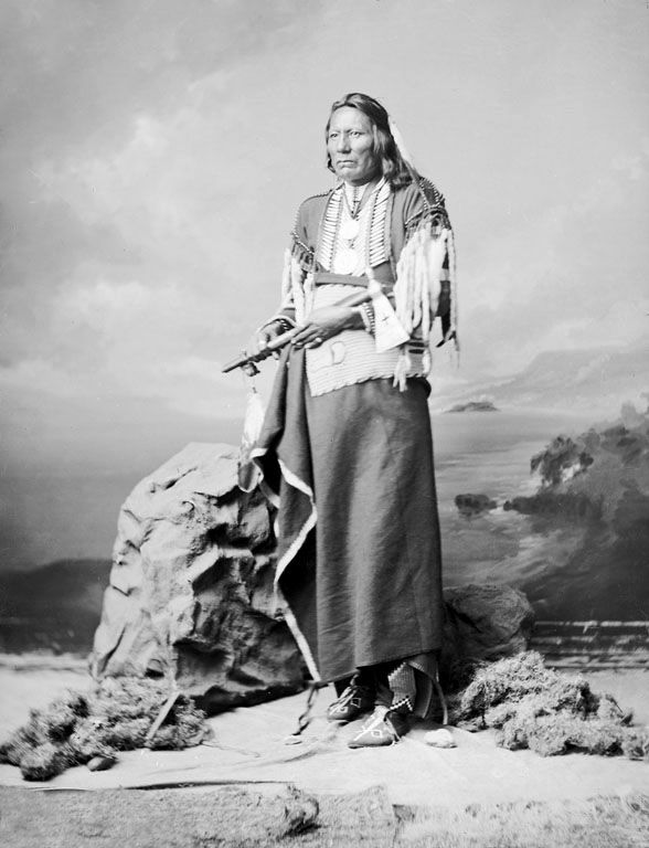 An old photograph of White Eagle - Ponca 1877.