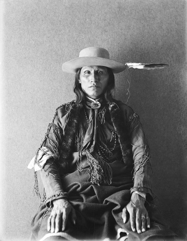 An old photograph of White Horse - Southern Cheyenne 1895.