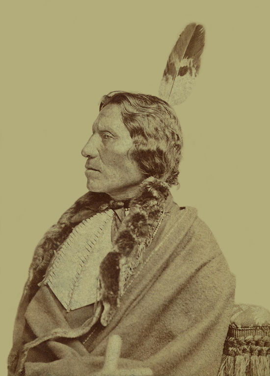 An old photograph of White Thunder - Sicangu Lakota ca1880 [B].