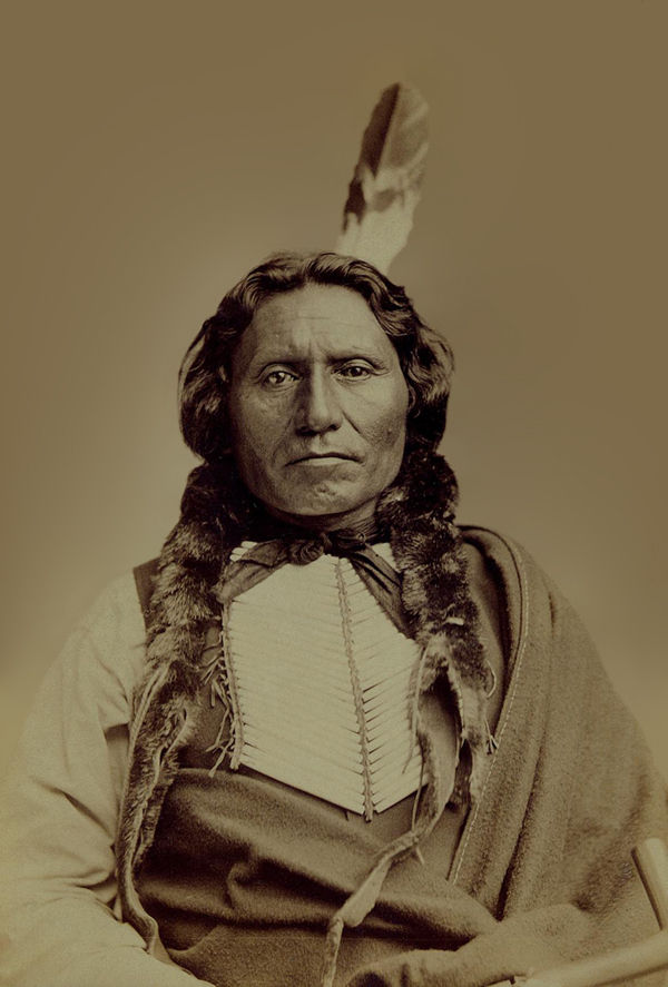 An old photograph of White Thunder or White Cloud aka Wa-kin'-yan-ska - Brule 1880.