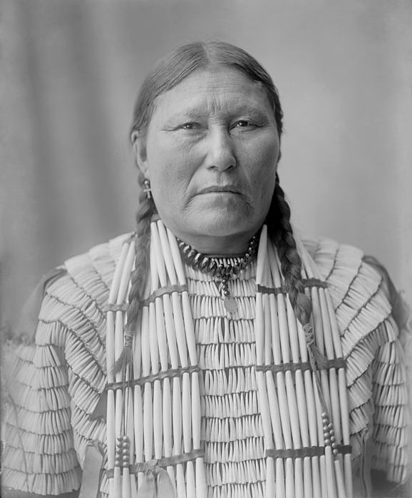 An old photograph of the Wife of Eagle House - Oglala 1904.