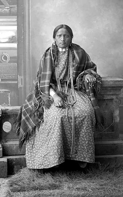 An old photograph of the Wife of Louie Sitting Bull.