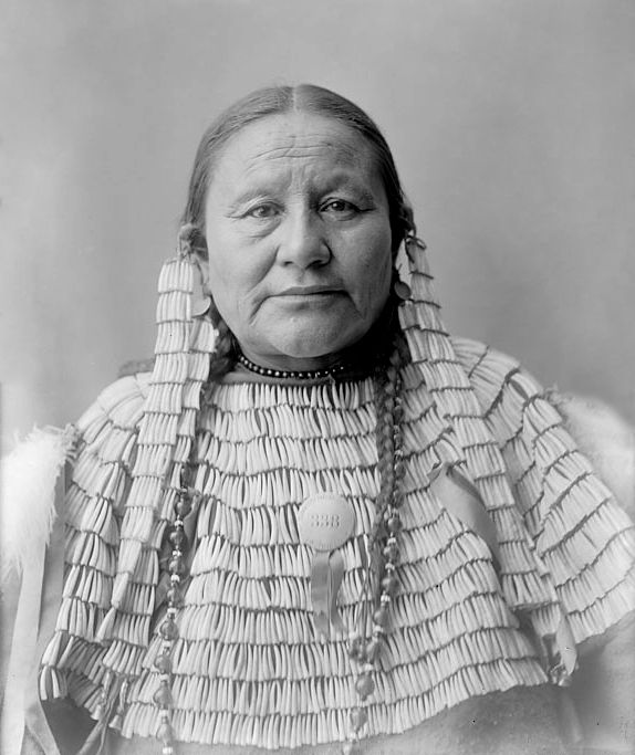 An old photograph of the Wife of Painted Horse - Oglala 1904.