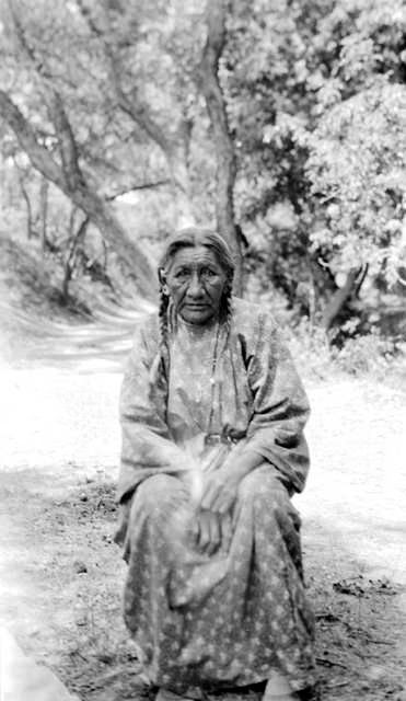 An old photograph of the Wife of Wooden Leg - Northern Cheyenne 1936.