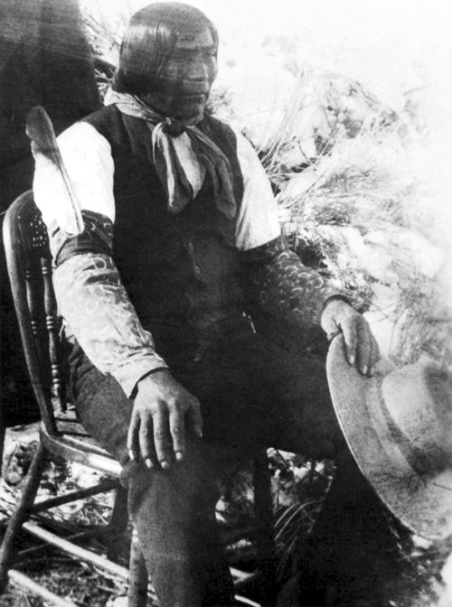 An old photograph of Wovoka aka The Cutter - Paiute [A].